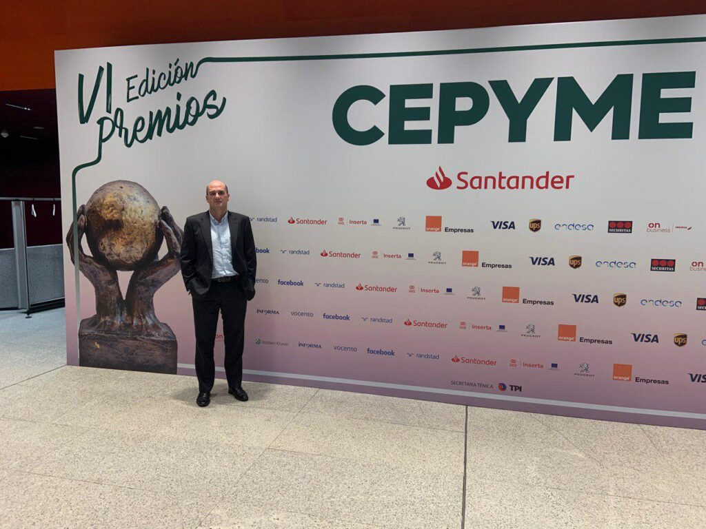 Miguel González Cuétara, eCapture3D CEO, at CEPYME awards