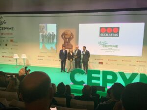 The Extremaduran company eCapture3D receives the award for SMEs Entrepreneur Project at the CEPYME Awards